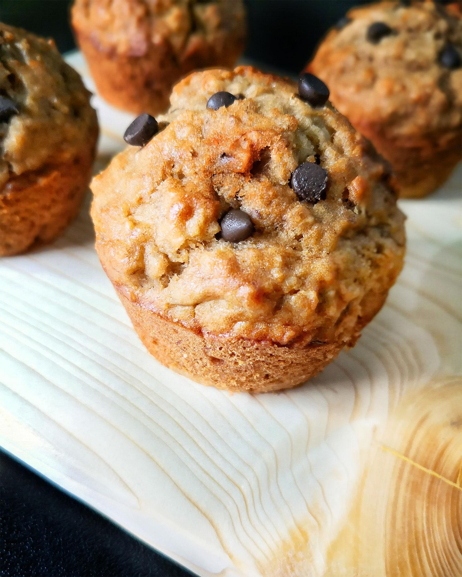 Chocolate Chip Banana Oatmeal Muffins Recipe
